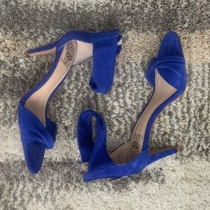 Vince Camuto blue suede heeled sandals